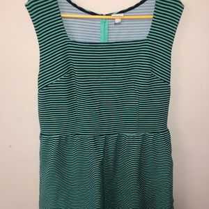 Striped teal and navy striped